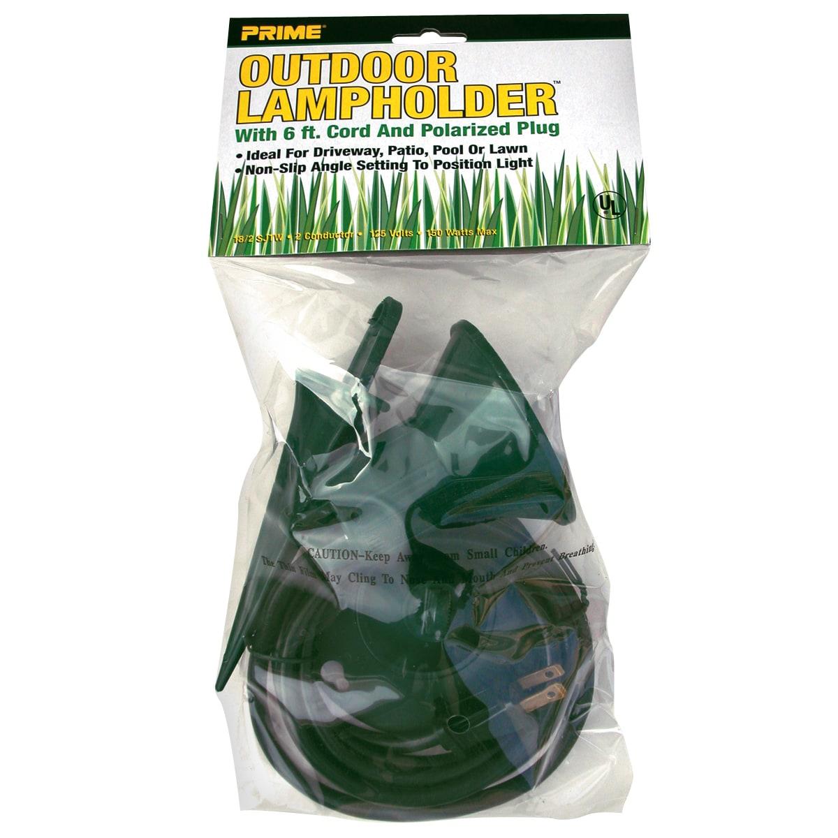 Prime FLH10506 6' 18/2 Sjtw 150W Green Floodlight Holder ...
