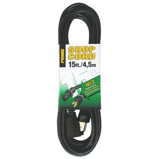 Prime EC502615 15' 16/3 SJTW Black Extension Cord