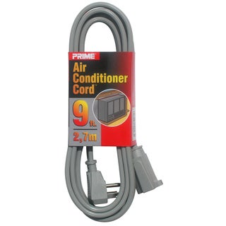 Prime EC680509L 9' 14/3 SPT-3 Gray Air Conditioner Cord