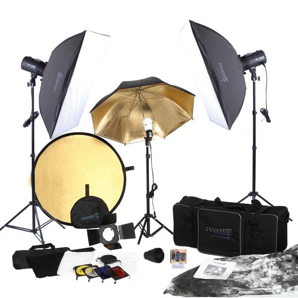 Studio Lighting Reviews: Shop Square Perfect SP3500 Black Aluminum Portrait Studio