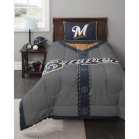 MLB Milwaukee Brewers Twin 2-piece Comforter Set