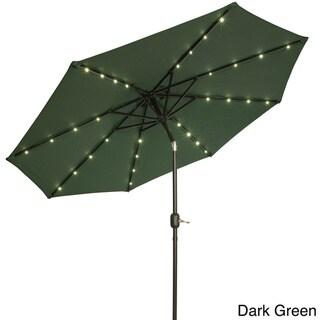 Trademark Innovations Deluxe 9-foot Solar-powered LED Lighted Patio Umbrella