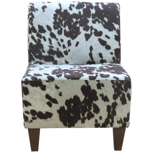 Marvelous Beumont Cowhide Armless Accent Chair Machost Co Dining Chair Design Ideas Machostcouk