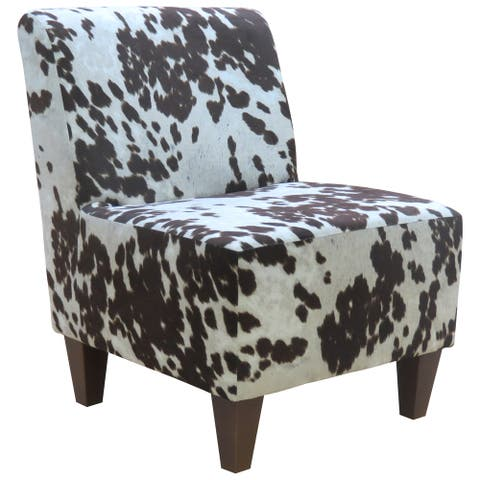 Beumont Cowhide Armless Accent Chair