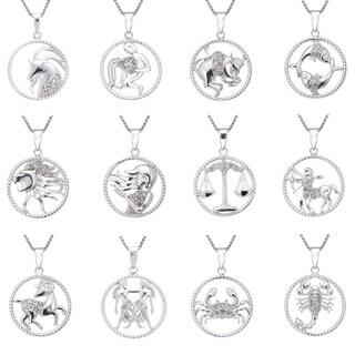 Sterling Silver 1/8ct TDW Diamond Zodiac Pendant (J-K, I2-I3)