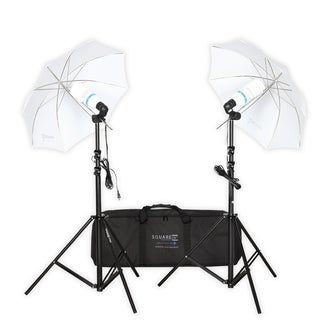 Square Perfect Premium Photo Studio Lighting Umbrella Stands and Full Spectrum Lights