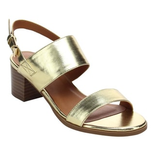 Beston BC46 Women's Buckle Ankle Slingback Strap Chunky Heel Sandals