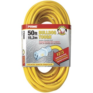 Prime LT511830 50' 12/3 SJTOW Yellow Bulldog Tough Extension Cords
