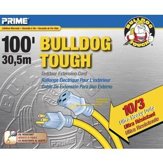 Prime LT511935 100' 10/3 SJTOW Yellow Bulldog Tough Extension Cord