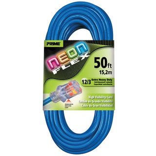 Prime NS514830 50' 12/3 SJTW Neon Neon Flex Extension Cord