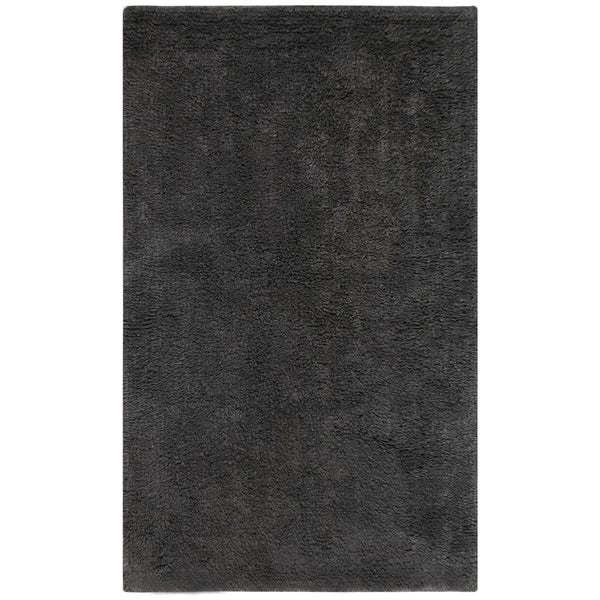 Shop Plush Pile Charcoal Bath Rug 30 X 50 Inch On Sale