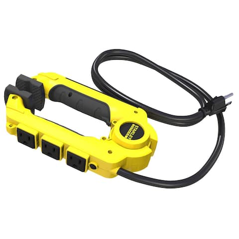 Stanley 32050 3' Three-Outlet Clamping Power Strip PowerClaw