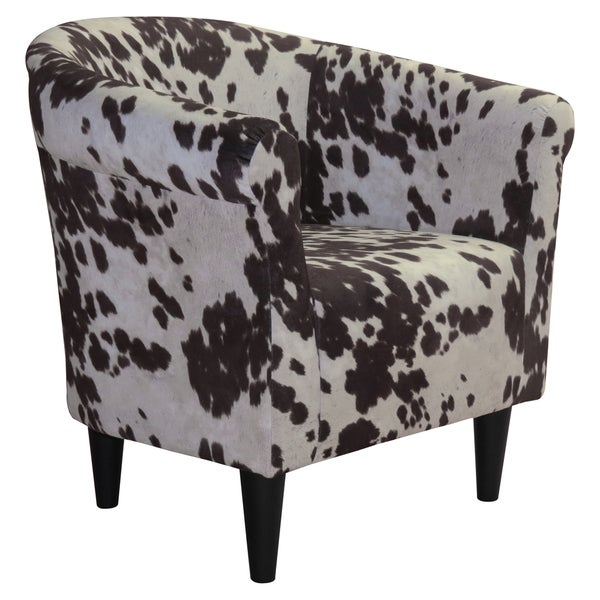 Beumont Cowhide Print Accent Chair  Free Shipping Today