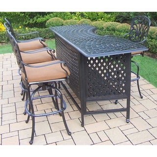 Milton Outdoor 7 Piece Brown Wicker Bar Set By Christopher