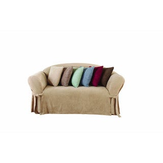Genial Sure Fit Soft Suede 3.2 One Piece Sofa Slipcover