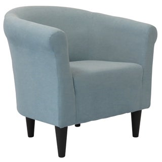 Porch & Den Fountain Square Woodlawn Round-back Upholstered Accent Chair (Option: Twighlight Blue)