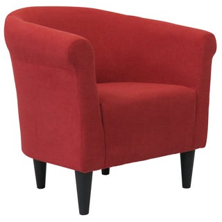 Porch & Den Fountain Square Woodlawn Round-back Upholstered Accent Chair