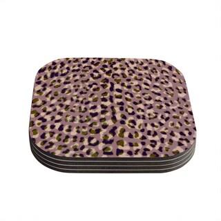 Vasare Nar 'Leo Cheetah' Animal Pattern Coasters (Set of 4)