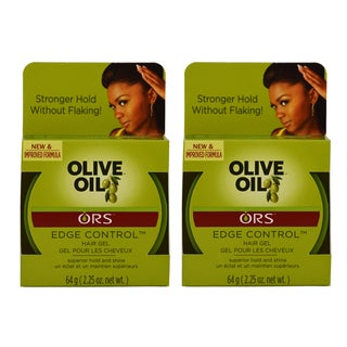 Organic Root Stimulator 2.25-ounce Olive Oil Edge Control Hair Gel (Pack of 2)