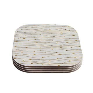 888 Design 'Golden Stripes Pattern' Abstract Gold Coasters (Set of 4)|https://ak1.ostkcdn.com/images/products/11776724/P18688563.jpg?impolicy=medium