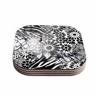 Victoria Krupp 'Out Of Morocco' Black Abstract Coasters (Set of 4)