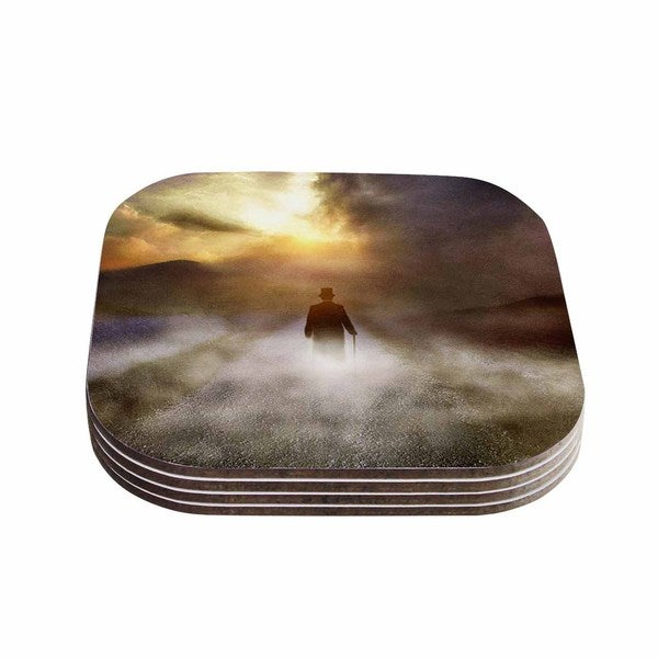 Viviana Gonzalez 'Day Dream' People Multicolor Coasters (Set of 4)