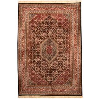 Herat Oriental Indo Hand-knotted Bidjar Black/ Red Wool Rug (6'2 x 9'4)