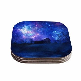 Viviana Gonzalez 'Beginning' Blue Galaxy Coasters (Set of 4)