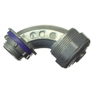 "Halex 91695 1/2"" Zinc 90° Liquid Tight Connector"