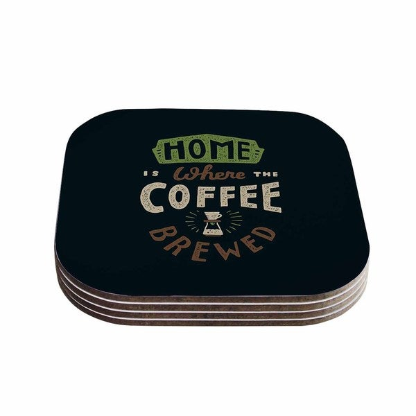 Tatak Waskitho 'Home Is Where' Vector Food Coasters (Set of 4)