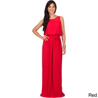 Koh Koh Women's Sleeveless Backless Cocktail Long Party Gown Maxi Dress