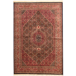 Herat Oriental Indo Hand-knotted Bidjar Navy/ Rust Wool Rug (6'2 x 9')