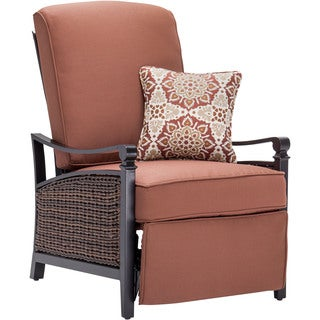 La-Z Boy Outdoor Carson Bordeaux/Brown Aluminum and Wicker Luxury Outdoor Recliner