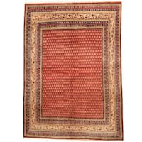 Handmade Herat Oriental Persian 1960s Semi-antique Tribal Mir Wool Rug  - 6'8 x 9'3 (Iran)