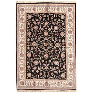 Handmade One-of-a-Kind Kashan Wool Rug (India) - 6'1 x 9'
