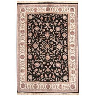 Herat Oriental Indo Hand-knotted Kashan Wool Rug (6'1 x 9')
