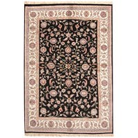 Herat Oriental Indo Hand-knotted Kashan Wool Rug - 6'1 x 9'