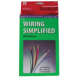GB Gardner Bender ERB-WS Wiring Simplified 40th Edition Book