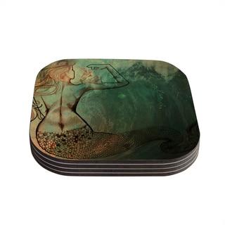 Theresa Giolzetti 'Poor Mermaid' Coasters (Set of 4)