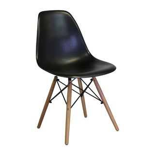 Eames Style Mid Century Modern Black Side Chair (India)