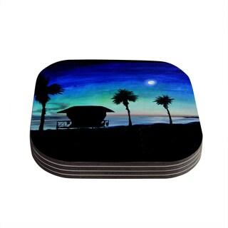 Theresa Giolzetti 'Carlsbad State Beach' Coasters (Set of 4)
