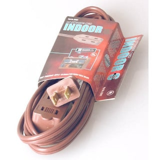 Coleman Cable 09405 20' 16/2 Brown Indoor Cube Tap Extension Cord
