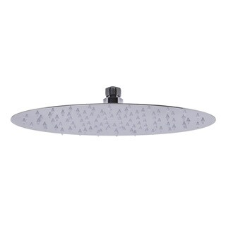 ALFI brand Oval Polished Solid Stainless Steel Ultra Thin 12-inch Rainfall Shower Head