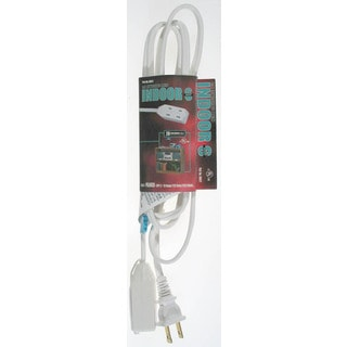 Coleman Cable 09412 9' 16/2 White Indoor Cube Tap Extension Cord