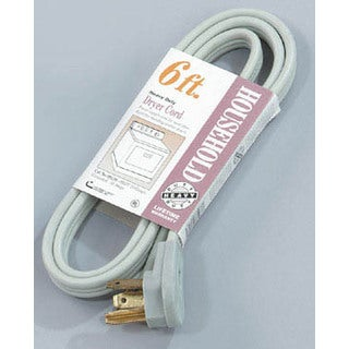 Coleman Cable 09126 6' Grey Dryer Cord