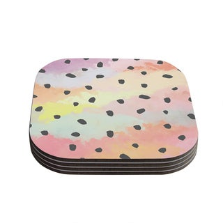 Strawberringo 'With Dots' Pastel Painting Coasters (Set of 4)