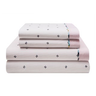 Tommy Hilfiger Harrington Monogram Cotton Rich Sheet Set