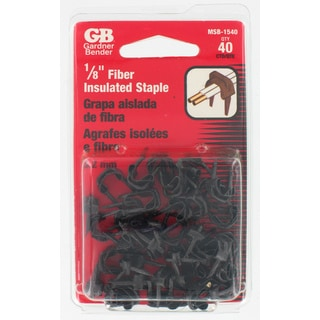 "GB Gardner Bender MSB-1540 3/16"" Black Insulated Staples Bell Wire 40-count"
