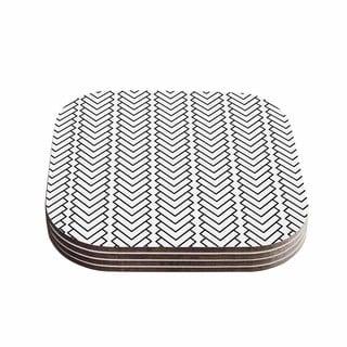 Trebam 'Kamara' White Black Coasters (Set of 4)