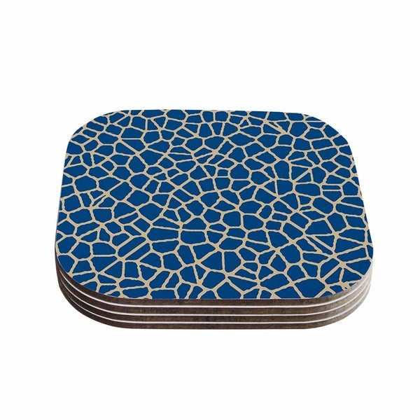 Trebam 'Staklo IV' Blue Brown Coasters (Set of 4)